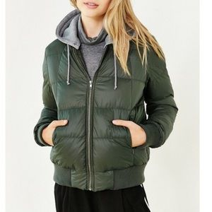 Bb Dakota Army Green Puffer Jacket